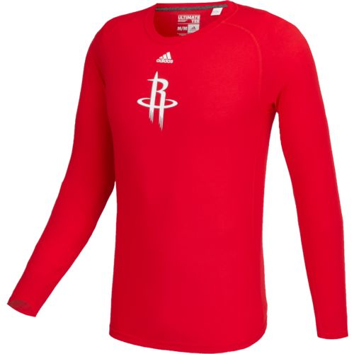 adidas™ Men's Houston Rockets Team Logo Long Sleeve T-shirt