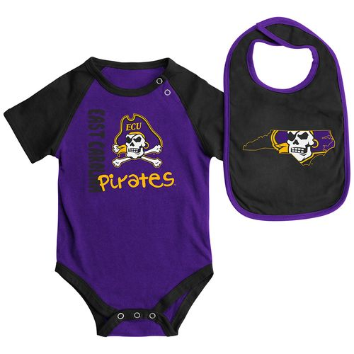Colosseum Athletics Infants' East Carolina University Rookie Onesie and Bib Set free shipping