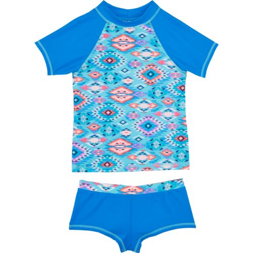 O'Rageous Kids Girls' 2-Piece Rash Guard Swimsuit