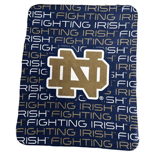 Logo™ University of Notre Dame 50' x 60' Classic Fleece Blanket