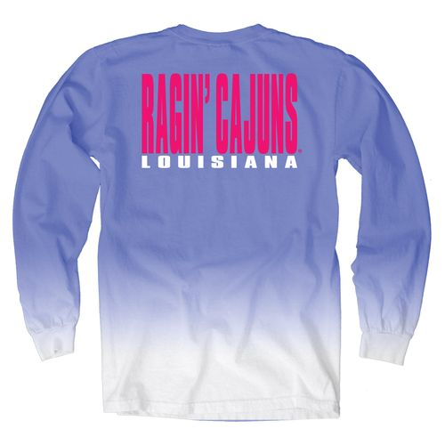 Blue 84 Women's University of Louisiana at Lafayette Ombré Long Sleeve Shirt - view number 1