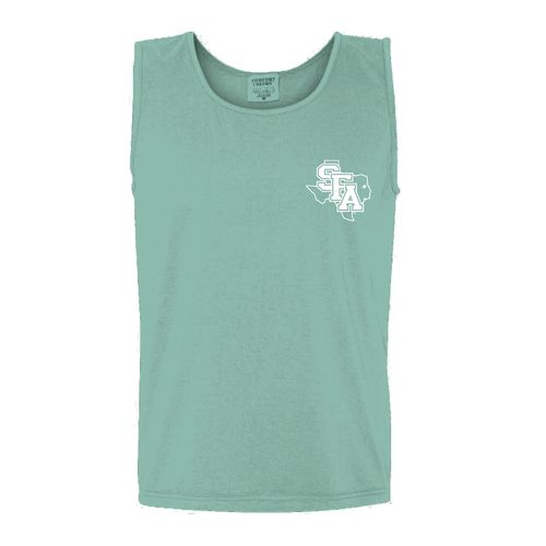 New World Graphics Women's Stephen F. Austin State University Circle Flowers Tank Top - view number 2