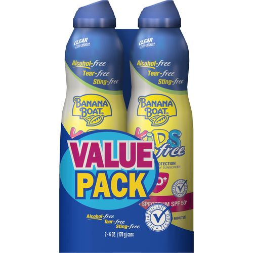 Banana Boat® Kids' Ultra Mist SPF 50 Spray Sunscreen 2-Pack