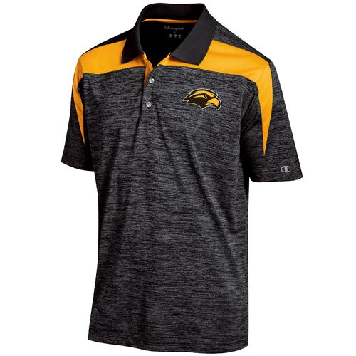 Champion™ Men's University of Southern Mississippi Synthetic Colorblock Polo Shirt