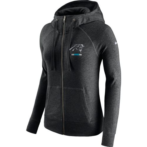 Nike™ Women's Carolina Panthers Full Zip Gym Vintage Hoodie