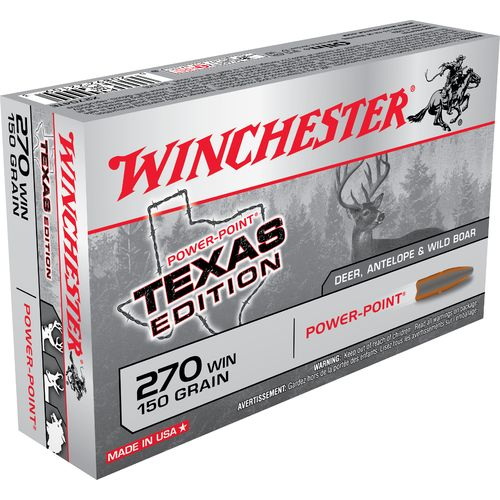 Winchester Texas Edition Power-Point .270 Winchester 150-Grain Centerfire Rifle Ammunition