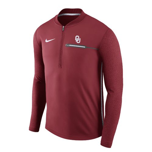 Nike Men's University of Oklahoma Coaches 1/4 Zip Pullover