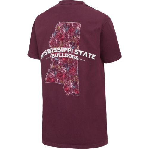 New World Graphics Women's Mississippi State University Comfort Color Puff Arch T-shirt - view number 3