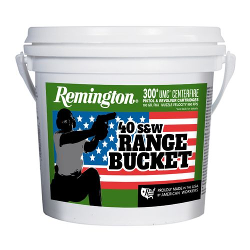 Remington UMC P&R .40 S&W 180-Grain Centerfire Ammunition Range Bucket