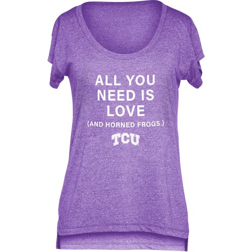 Chicka-d Women's Texas Christian University Scoop-Neck T-shirt