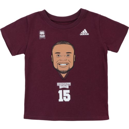 adidas Toddlers' Mississippi State University Dak Prescott Big Head T-shirt