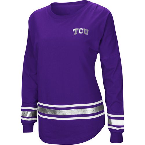 Colosseum Athletics Women's Texas Christian University Humperdinck Oversize Long Sleeve T-shirt