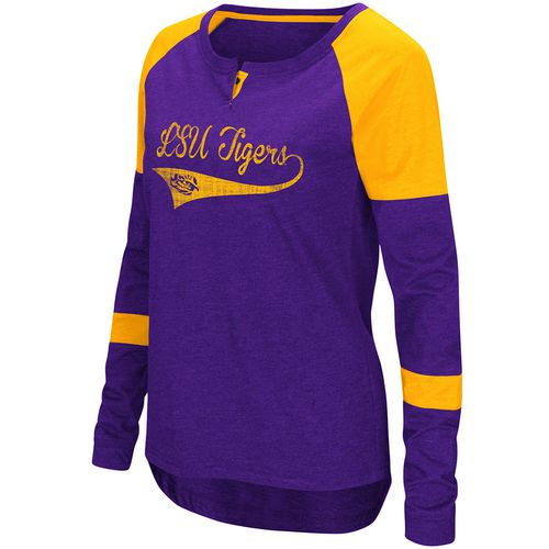 Colosseum Athletics Women's Louisiana State University Routine Raglan T-shirt