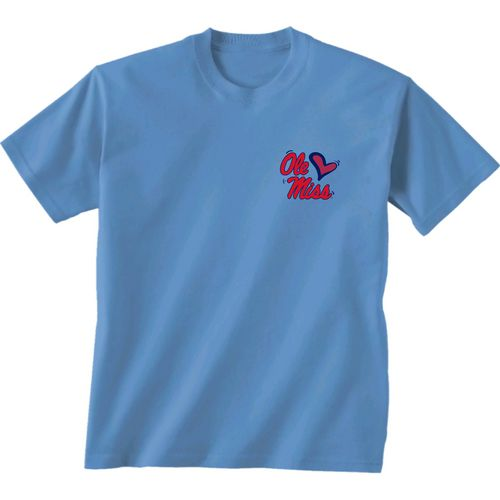 New World Graphics Girls' University of Mississippi Where the Heart Is Short Sleeve T-shirt - view number 2