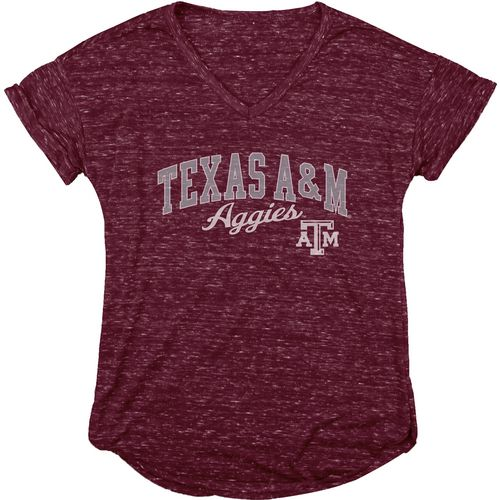 Blue 84 Women's Texas A&M University Dark Confetti V-neck T-shirt