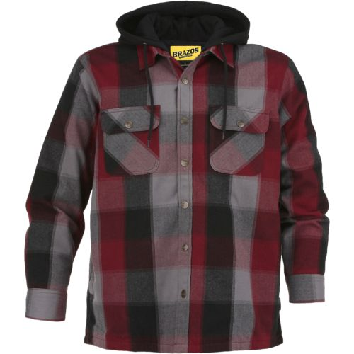 Brazos Men's Blacksmith Hooded Flannel Shirt Jacket