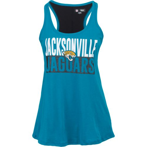 5th & Ocean Clothing Women's Jacksonville Jaguars Glitter Tank Top - view number 1