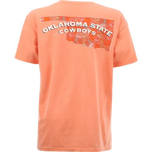 New World Graphics Women's Oklahoma State University Comfort Color Puff Arch T-shirt