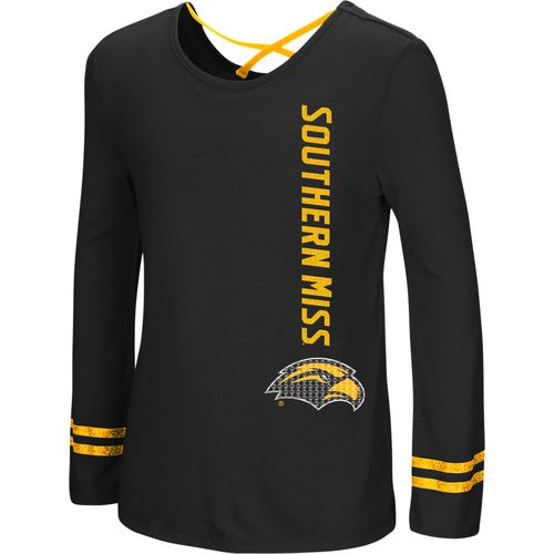 Colosseum Athletics Girls' University of Southern Mississippi Marks the Spot Strappy Back Long Sleev