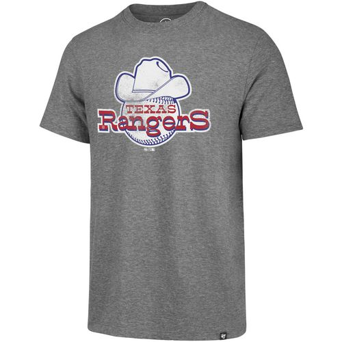'47 Men's Texas Rangers Throwback Match Short Sleeve T-Shirt