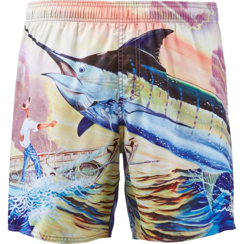 Guy Harvey Men's Santigold Volley Swim Trunks