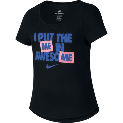Nike Girls' Sportswear I Put the Me in Awesome T-shirt