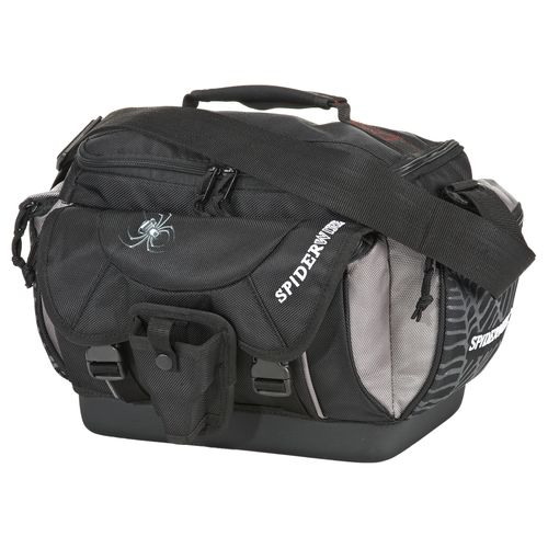 spiderwire spa007 fishing black tackle bag w out boxes