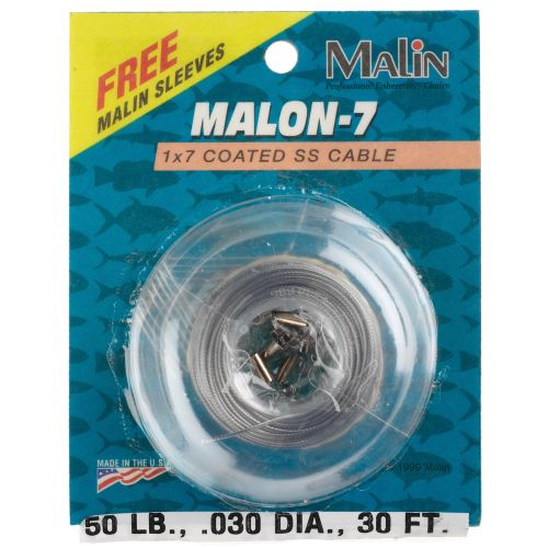 Malin Malon-7 Coated SS 5#, 30' Wire