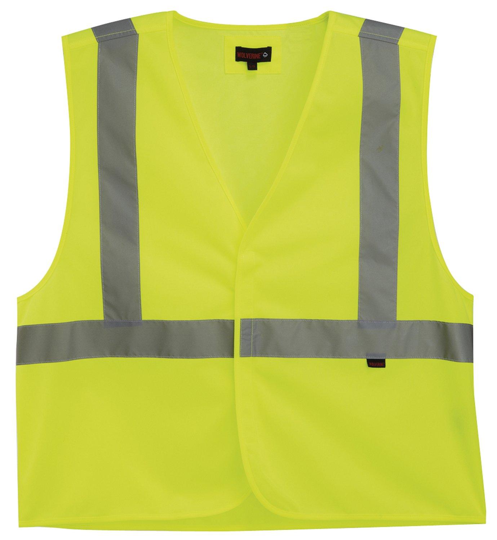 Wolverine Men's Hi Vis Roadside Vest