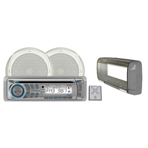 "Image for Dual 100W Marine CD Receiver with Two 6-1/2"" Dual-Cone Speakers from Academy"