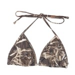 Realtree Juniors' MAX-4 Stacked Ruffle Slider Triangle Bra Swim Top