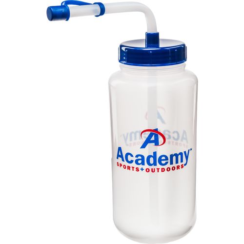 Academy 1-Liter Water Bottle with Straw