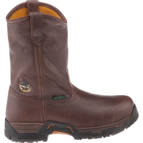 Georgia Men s Diamond Trax Steel Toe Waterproof Wellington Work Boots