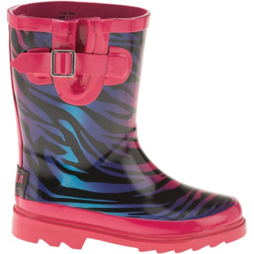 Image for Austin Trading Co.™  Toddler Girls' Wild Ombré Zebra Rubber Boots from Academy