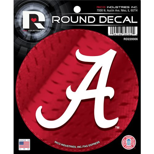 Tag Express University of Alabama Round Decal