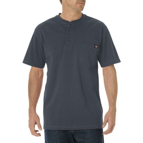 Dickies Men's Short Sleeve Heavyweight Henley