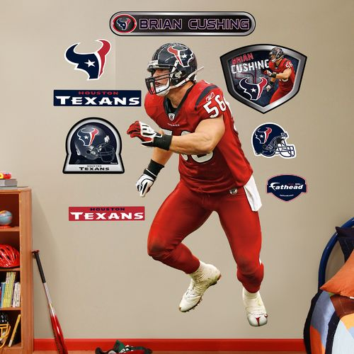 Fathead Houston Texans Brian Cushing #56 Team and Player Decals 9-Pack