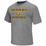 Colosseum Athletics Men's University of Southern Mississippi Arena Poly Short Sleeve T-shirt