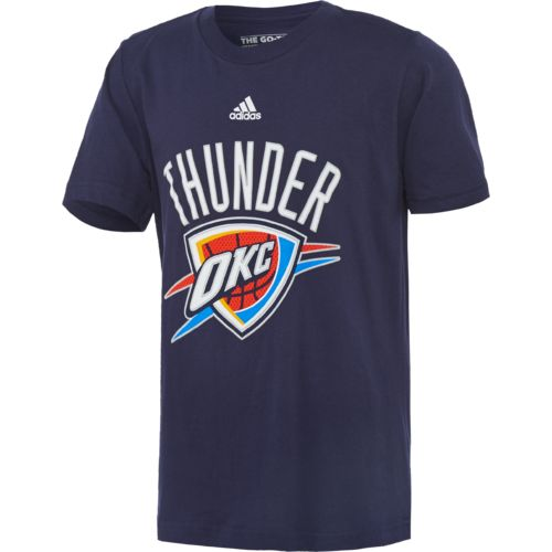 adidas™ Boys' Oklahoma City Thunder Primary Logo Mesh T-shirt