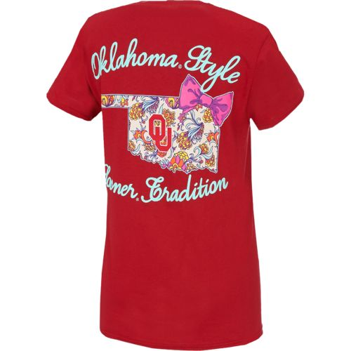 New World Graphics Women's University of Oklahoma Short Sleeve T-shirt - view number 2