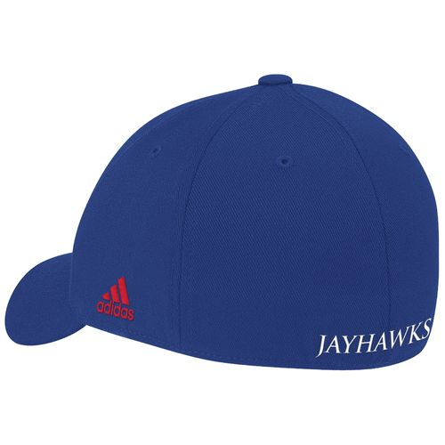 adidas™ Men's University of Kansas Wool No Fear Shape Cap - view number 2