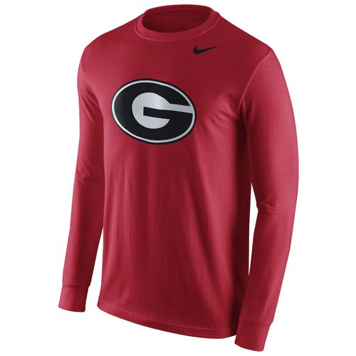 Nike™ Men's University of Georgia Long Sleeve Logo