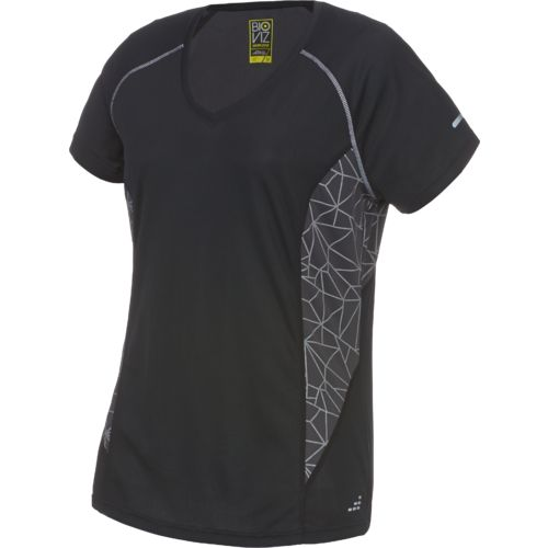 BCG™ Women's Running Short Sleeve V-neck Reflective Printed Top
