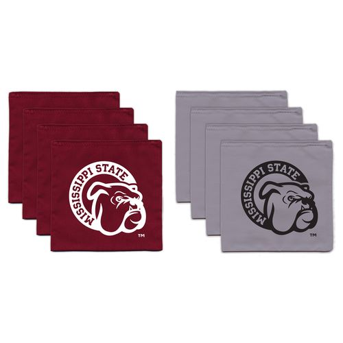 BAGGO® Mississippi State University 9.5 oz. Replacement Beanbag Toss Beanbags 8-Pack