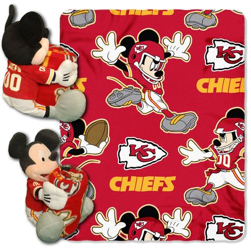 The Northwest Company Kansas City Chiefs Mickey Mouse Hugger and Fleece Throw Set