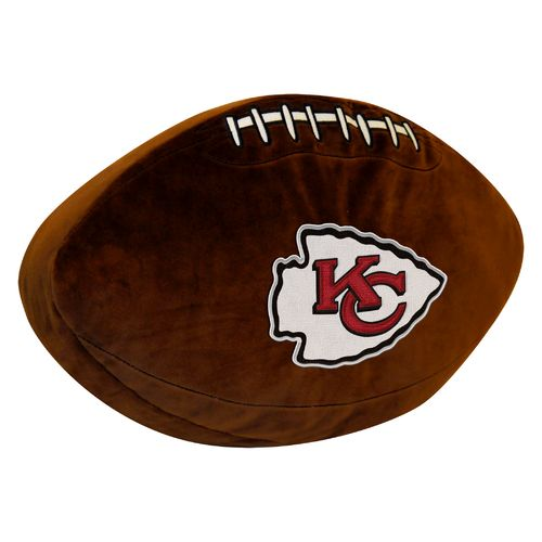The Northwest Company Kansas City Chiefs Football Shaped Plush Pillow - view number 1