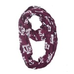 ZooZatz Women's Texas A&M University Logo Infinity Scarf