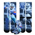 For Bare Feet Adults' Dallas Cowboys Jason Witten Tie-Dye Sublimation Socks