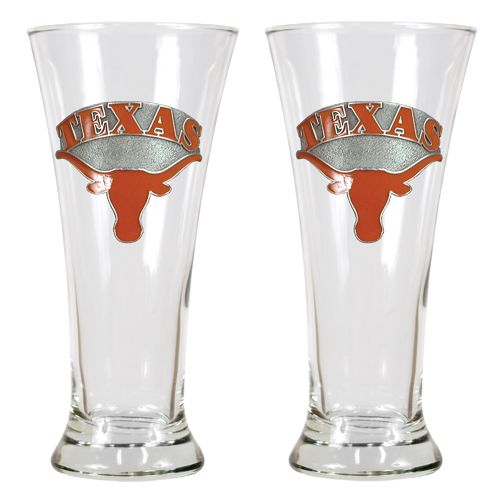 Great American Products University of Texas 19 oz. Pilsner Glasses 2-Pack