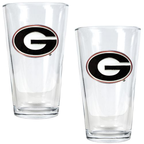 Great American Products University of Georgia 16 oz. Pint Glasses 2-Pack